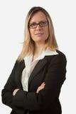 Blonde Geschäftsfrau mit Brillen Lizenzfreies Stockfoto