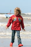 Blonde girl. A blonde girl on stormy beach  e Stock Image