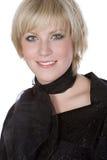 Blonde Girl against White Stock Image