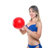 Blonde girl in a bathing suit Stock Photo