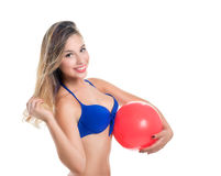 Blonde girl in a bathing suit Stock Image