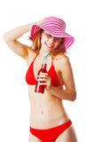 Blonde girl in beachwear Royalty Free Stock Photos