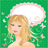 Blonde girl beautiful face Royalty Free Stock Photos