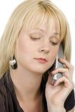 The blonde girl calling Stock Photos
