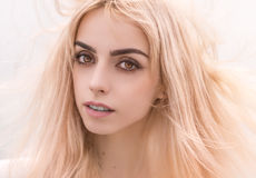 Blonde girl close-up. Royalty Free Stock Images