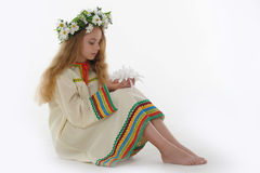 Blonde girl with daisies Royalty Free Stock Photo