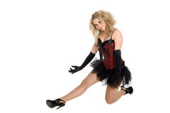 Blonde girl in dance pose. Stock Photo