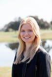 Blonde girl enjoying of good time at spring Royalty Free Stock Images