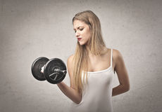 Blonde Girl Exercise Royalty Free Stock Image