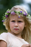 Blonde girl in flower wreath Royalty Free Stock Photo