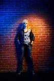 Blonde girl glam rocker Royalty Free Stock Photo