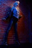 Blonde girl glam rocker Stock Photo