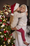 Blonde girl with her mom Royalty Free Stock Image
