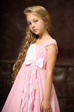 Blonde girl with long hair Stock Photography