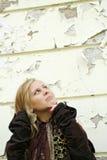Blonde girl looking Stock Photos