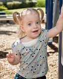 Blonde Girl at Playground Stock Photography
