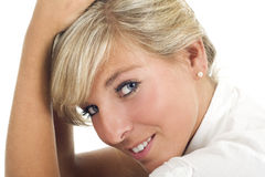 Blonde girl portrait Royalty Free Stock Image