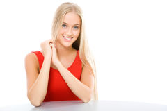Blonde girl Stock Images