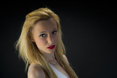 Blonde girl. Portrait of a young blonde teenage girl Royalty Free Stock Image