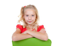Blonde girl is posing Royalty Free Stock Photo