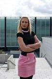 Blonde girl posing Stock Image