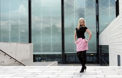 Blonde girl posing Royalty Free Stock Images