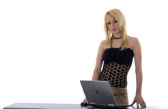 Blonde Girl On Reception Royalty Free Stock Photography