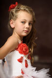 Blonde girl in a smart dress Royalty Free Stock Photography