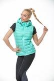 Blonde girl in the sportswear Stock Photography