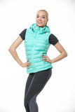 Blonde girl in the sportswear Royalty Free Stock Images