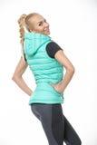 Blonde girl in the sportswear Stock Image
