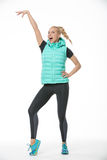 Blonde girl in the sportswear Royalty Free Stock Image