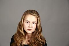 Blonde girl in studio Stock Photo