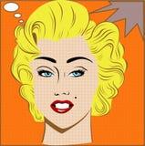 Blonde girl. In the style of pop art vector illustration