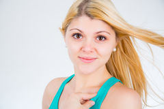 Blonde girl in a summer Royalty Free Stock Photography