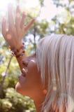 Blonde girl in the sun Stock Photo