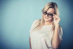 Blonde girl in sunglasses Stock Photo