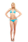 Blonde girl in swimsuit Royalty Free Stock Images