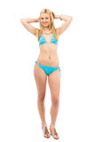 Blonde girl in swimsuit Stock Photo