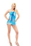 Blonde girl in swimsuit Stock Photo