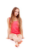 Blonde girl in underclothes Stock Photo