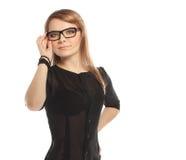 Blonde girl vision Stock Photos
