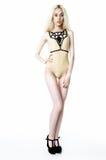 Blonde girl wearing bodysuit Stock Image