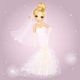 Blonde Girl In Wedding Dress Stock Images