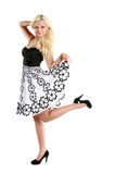 Blonde girl on a white background Royalty Free Stock Photos