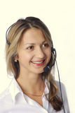Blonde Girl With Headphone Stock Photos