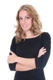 Blonde glückliche Geschäftsfrau Lizenzfreie Stockbilder