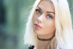 Blonde glamourvrouw stock fotografie