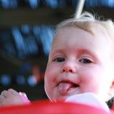 Blonde gorgeous baby girl Royalty Free Stock Photos