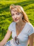 Blonde Grassonne Lizenzfreies Stockfoto